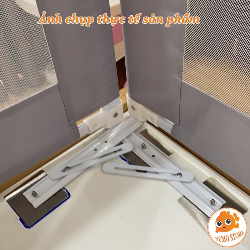 Miếng dán thanh chắn giường chuyên dụng loại bằng nhựa và inox - Nemo store