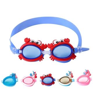 Anti-fog Swimming Goggles Cartoon Adjustable Swim Gear for Kids
