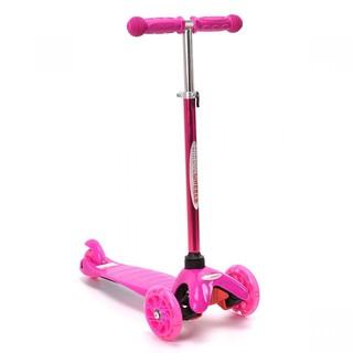 Xe trượt Scooter trẻ em có đèn và điều chỉnh độ cao Chrome Wheels - CW8002L màu hồng thumbnail