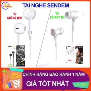 [Giá Bất Ngờ] Tai nghe dây chính hãng Sendem V5 - Đệm mút tai và Sendem V7 - Tai trơn thiết kế đơn giản tinh tế chuẩn âm thumbnail