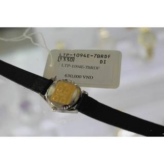 Đồng hồ nữ dây da Casio chính hãng Anh Khuê LTP-1094E-7BRDF