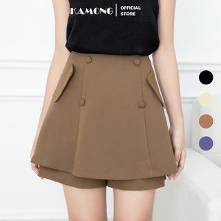 Quần short nữ giả váy KAMONG dáng chân váy ngắn thiết kế cao cấp. thumbnail
