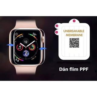 Miếng Dán PPF Mặt Trước Cho Đồng Hồ Thông Minh Apple Watch Đủ Size 3.8, 4.0, 4.2, 4.4mm