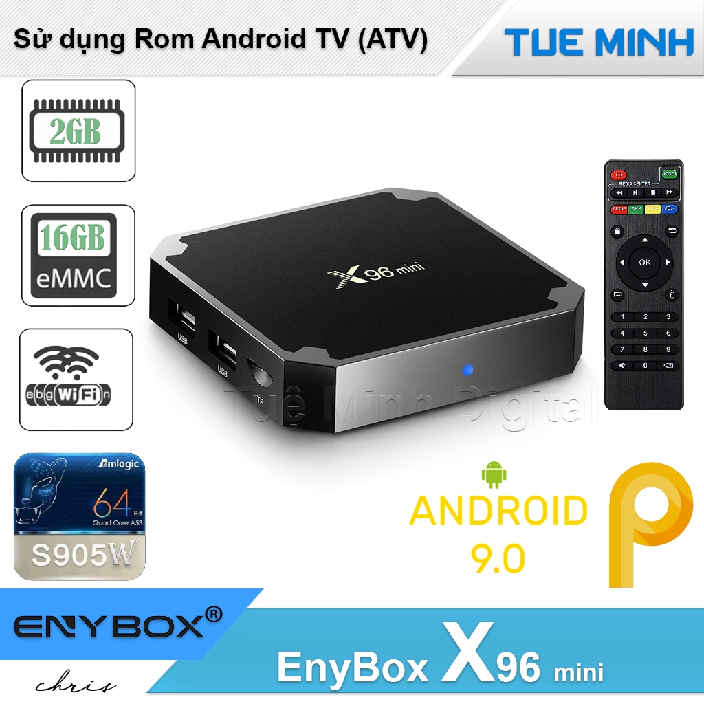 Android TV Box X96 mini phiên bản 2G Ram và 16G bộ nhớ trong - Android 9