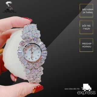 Đồng Hồ Royal Crown Nữ Đá Trắng 34mm Silver Authentic thumbnail