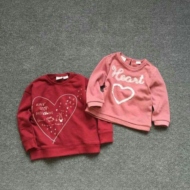 Combo áo nỉ Zara Heart