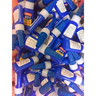 keo 401 gắn móng gắn đá siêu chắc siêu bền keo chuyên dụng cho nail gắn dầy dép dụng cụ đồ dùng cần thiết keo siêu siêu. 3