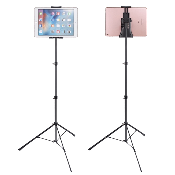 Tripod Floor Stand Support 4-12inch Celephone Ipad Tablet Live Broadcast Stand