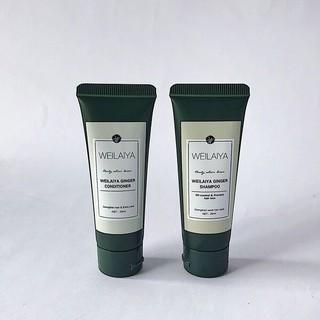 Bộ dầu gội Weilaiya giảm rụng kích mọc tóc, Mini size (gội 20ml + xả 20ml) thumbnail