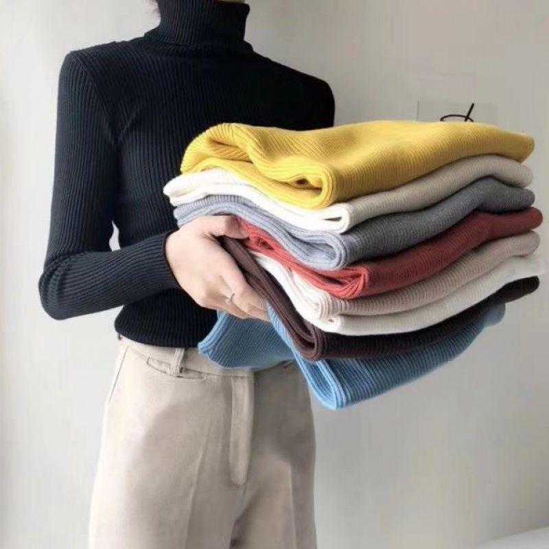 Áo ấm tay dài cổ cao ôm dáng đáng yêu hợp thời trang 28587 cho nữ