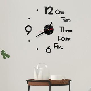 Đồng hồ dán tường tráng gương hiện đại, phụ kiện trang trí nhà cửa sang trọng