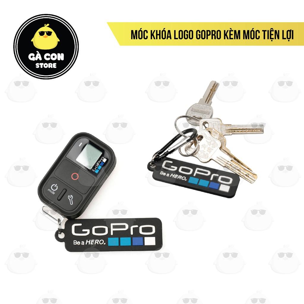 [Rẻ vô địch] Móc khóa Logo GoPro kèm móc tiện lợi