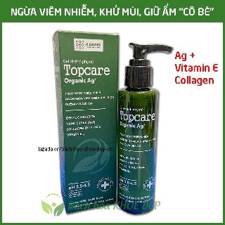 Gel dung dịch vệ sinh phụ nữ thảo dược Topcare Organic ngừa viêm nhiễm, dưỡng và giữ ẩm cô bé - Chai 145ml 1