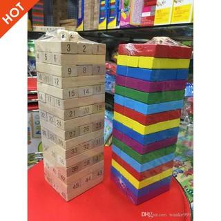 [Nhập TOYAPR10K giảm ngay 10K]đồ chơi rút gỗ 48 miếng nặng 1kg   CHẤT LƯỢNG CAO