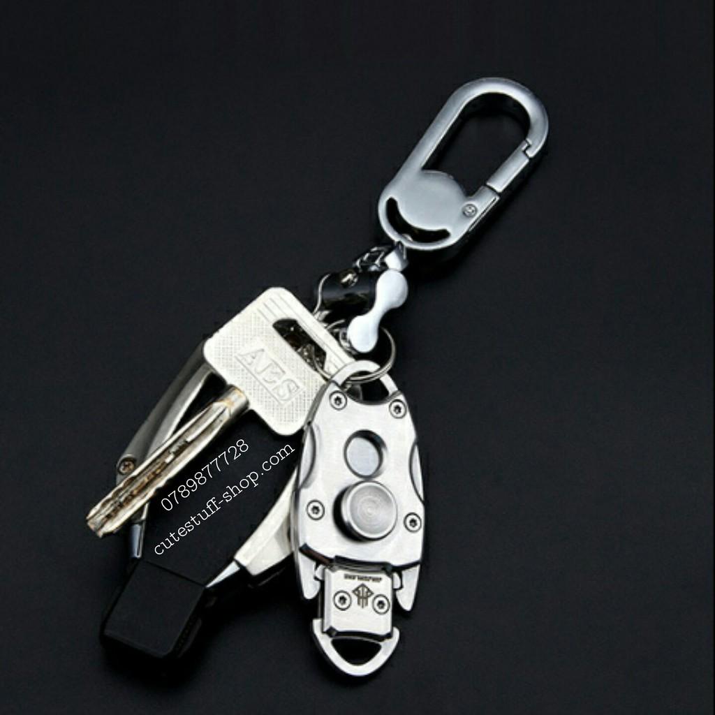 Spinner 3 in 1 móc khóa và dao mini đi phượt