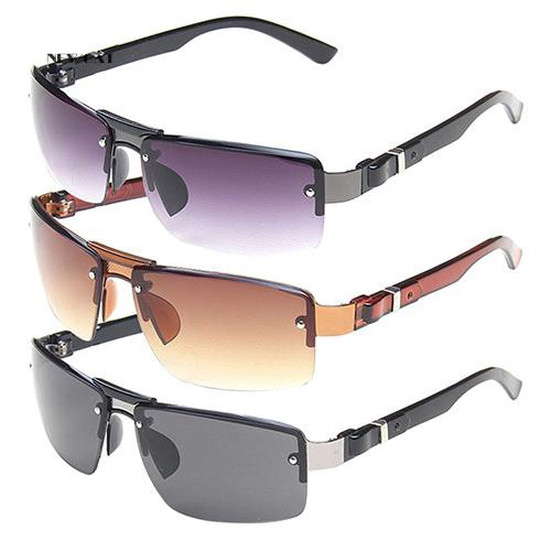 ღNK_Men's Rectangular Sunglasses Shades Travel Driving Fishing Eyewear