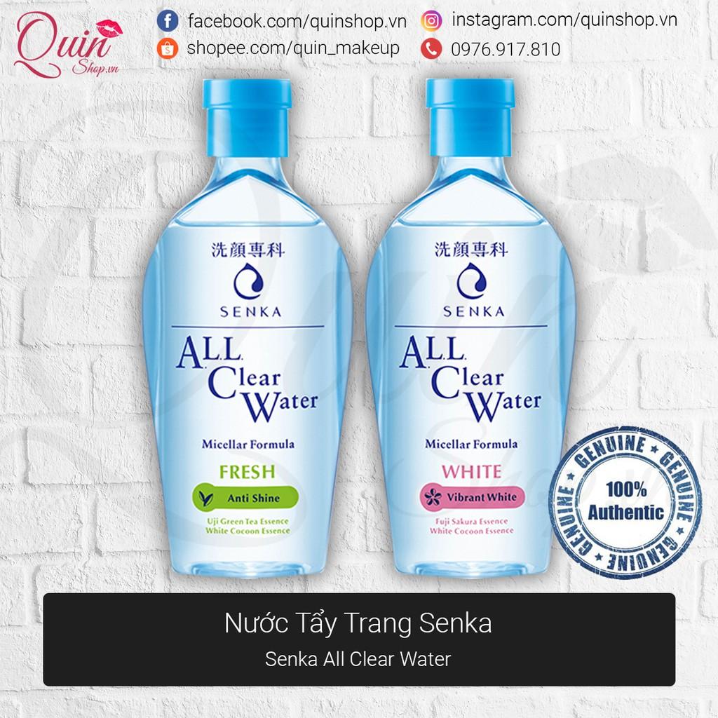 [Quin Cosmetics] Nước Tẩy Trang Senka All Clear Water Micellar Anti Shine