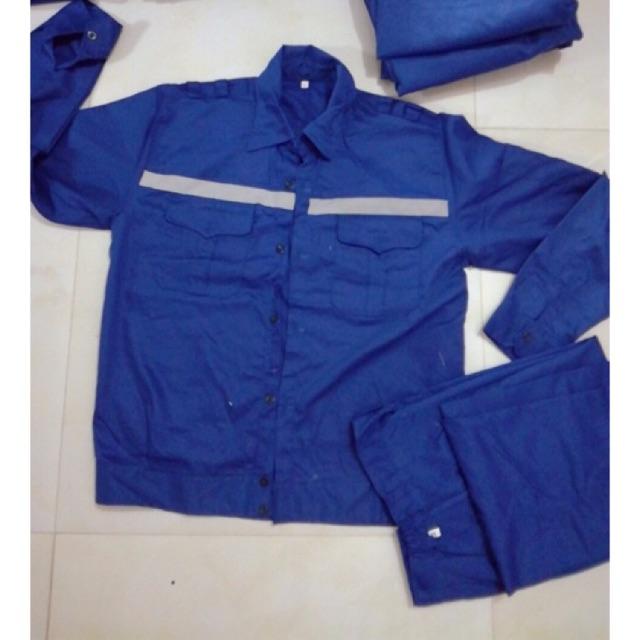 Quần áo bảo hộ xanh kèm phản quang A1