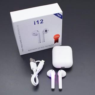 [Mã ELFLASH5 giảm 20K đơn 50K] Tai Nghe Bluetooth i12 TWS V5.0 Cảm Biến Vân Tay Như Airpod