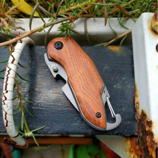 [Hàng độc] Dao phượt du lịch mini nhỏ gọn cán ốp gỗ lưỡi thép X48 - Zachi thumbnail