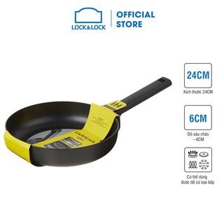 [Mã LIFEHL9 giảm 8% tối đa 100K đơn 250K] Chảo rán Soma Lock&Lock 24cm (Có thể dùng bếp từ) - Màu đen - LMH1243IH thumbnail
