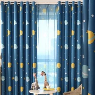 Rèm cửa sổ, cửa phòng ngủ chống nắng giá rẻ, hoạ tiết vũ trụ TNS-005