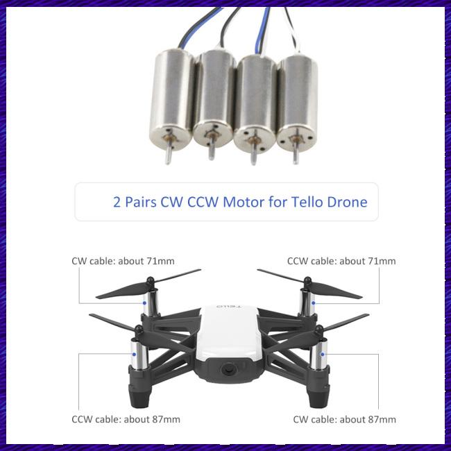 Universal Motor CW/CCW Motors for DJI Tello Mini Quadcopter Drone Repair Accessories