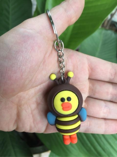 Móc khoá vịt ong