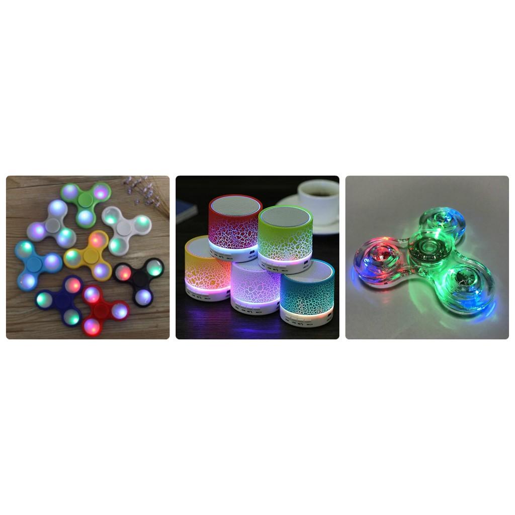 Con quay LED trong Suốt + Con Quay Đèn Led + Loa Bluetooth đèn Led cực đẹp