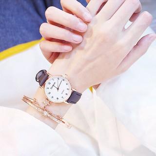 Đồng hồ thời trang nữ Candycat mặt số dây da nhung