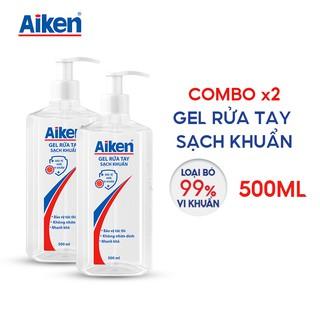 [Mã AIKE20149 giảm 20K đơn 149K] Aiken Combo 2 Gel rửa tay Sạch khuẩn 500ml chai Dạng vòi thumbnail