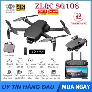 [GIÁ GỐC] FLYCAM SG108 5G Wifi FPV 4K HD Camera Kép, Cảm biến bụng hỗ trợ chống rung ELS, Thời gian bay 25 phút