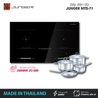 Bếp đôi điện từ hồng ngoại Junger MTD-71 - Công suất 4200W - mặt kính Ceramic | Bảo hành 2 năm | MADE IN THAILAND