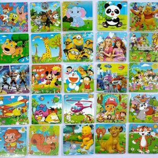 Tranh ghép hình 3D trí tuệ 9 – 12 – 16 mảnh ghép các mẫu cho bé giá rẻ nhất