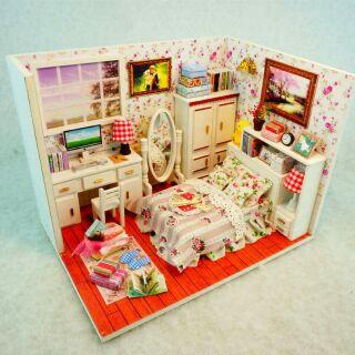 Mô hình nhà gỗ búp bê dollhouse DIY – M004A Happiness Attachment