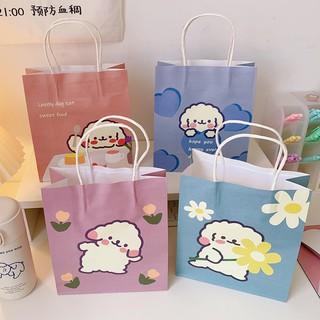 Túi đựng quà tặng phong cách Hàn Quốc siêu dễ thương - giỏ giấy loại dày kèm quai xách để đồ cực tiện lợi thumbnail