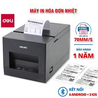 Máy in hóa đơn nhiệt Deli - màu đen - dòng PWs hỗ trợ kết nối bluetooth không dây