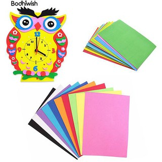 ☎10 Sheets Multicolor A4 Sponge EVA Foam Paper Kids DIY Hand Craft Paper