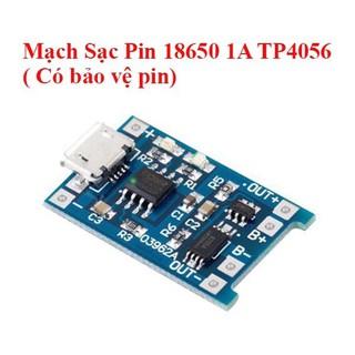 Mạch Sạc 1S Pin Lithium – Li-ion – 18650 TP4056 Có Bảo Vệ Pin