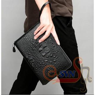Túi đựng iPad vân cá sấu thời trang TIP9-1 Black