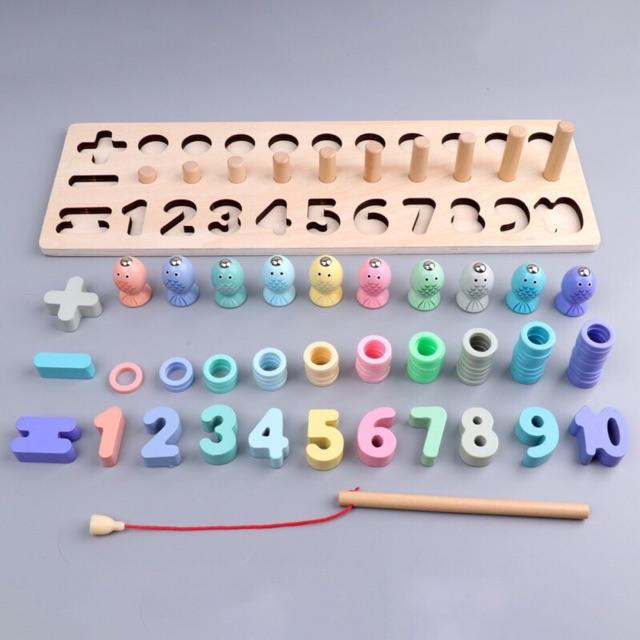 Bộ đồ chơi câu cá và xếp số