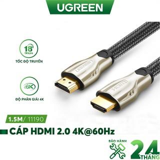 Dây cáp HDMI 2.0/ 1.4 hỗ trợ độ phân giải cao FullHD 4Kx2K 60Hz, dài từ 1-15m UGREEN HD102 dạng dây dẹt và dây tròn