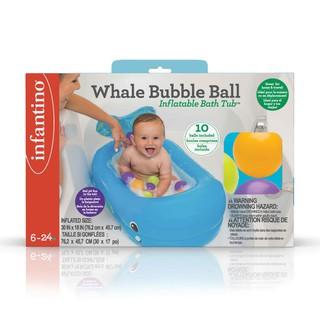 Chậu tắm bơm hơi hình cá heo Infantino an toàn tiện dụng dành cho bé 6 tháng tuổi
