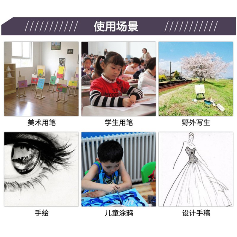 ✒❣℡Capable small double marker children painting to cancel pen black oil mark and fine wholesale