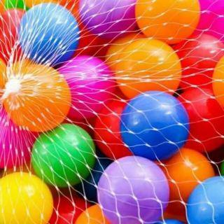 100 quả bóng nhựa đủ màu cho bé vui chơi