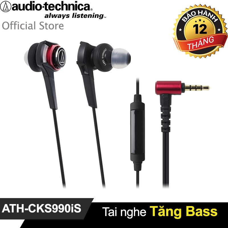 Tai nghe Audio-Technica tăng Bass ATH-CKS990iS