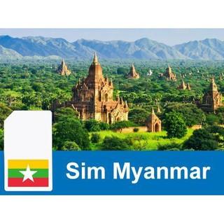 [Mã ELJAN10K giảm 10K đơn 20K] Sim du lịch Myanmar không giới hạn dung lượng