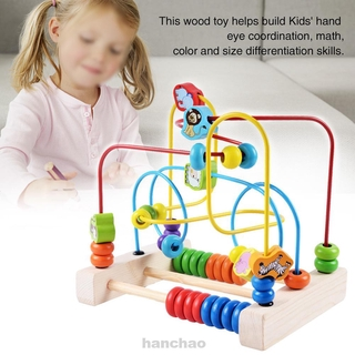 Assembling Beads Maze Childhood Learning Early Education Gift Kids Wooden Toys