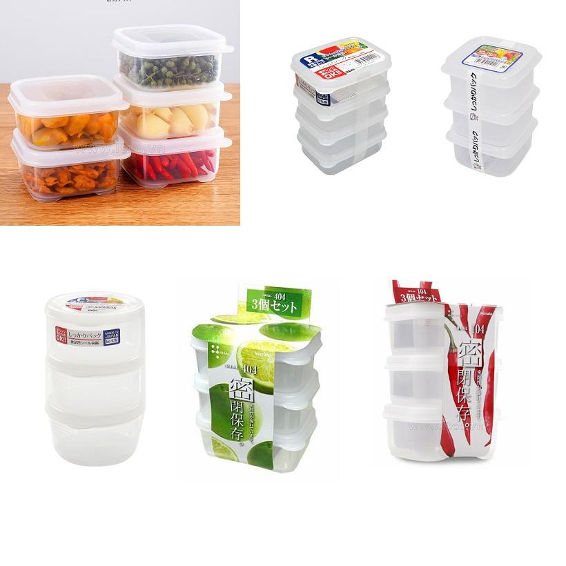 Set hộp nhựa nhỏ đựng đồ ăn dặm an toàn cho bé