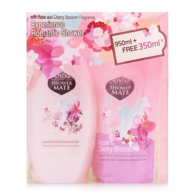 Bộ sữa tắm Shower Mate mùi cherry blossom